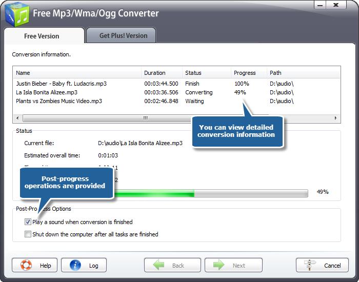 Free MP3/WMA/OGG Converter – Convert your favorite audio